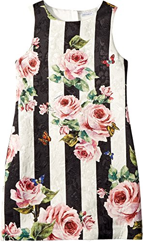 Dolce & Gabbana Kids Girl's Sleeveless Dress (Big Kids) Stripe Rose 12 by Dolce & Gabbana