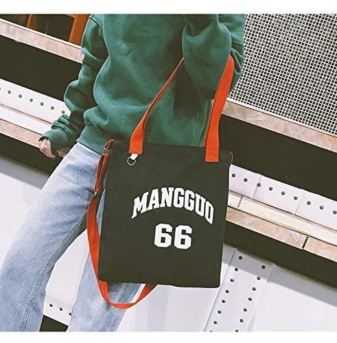 black Grande Borsetta Black Tela Lavoro Borsa Viaggi Stampa Semplice Scuola La Capacità Womens Shopping E Per Ynnb A Crossbody Bag Quotidiani Moda Tote Tracolla Lettera Letteraria tAw45qz