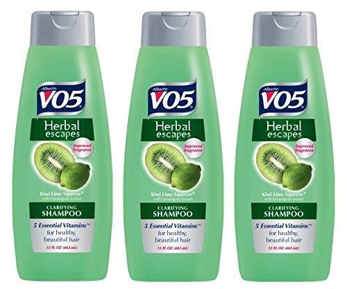 3 Pk, Alberto VO5 Herbal Escapes Kiwi Lime Squeeze Clarifying Shampoo, 15 Fl. Oz. ()