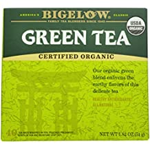Bigelow Organic Green Tea 40 Bags (Pack of 6), Premium Bagged Organic Green Tea, Antioxidant-Rich All Natural Medium-Caffeine Tea in Individual Foil-Wrapped Bags
