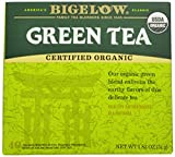 Bigelow Organic Green Tea 40 Bags (Pack of 6), Premium Bagged Organic Green Tea, Antioxidant-Rich All Natural Medium-Caffeine Tea in Individual Foil-Wrapped Bags