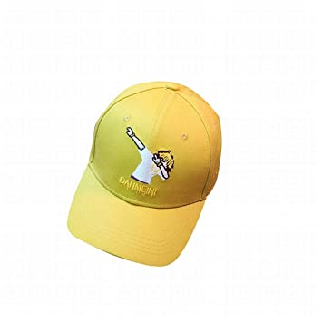 Mkulxina Gorra de béisbol Bordada, patrón de muñeca de Dibujos Animados tamaño Ajustable Sombrero Liso (Color : Yellow): Amazon.es: Hogar
