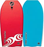 Body Boards - Professional Series Slick Bottom Bodyboard - Heat Sealed BLZ Lucky Body Boards (Red/Blue, 37)