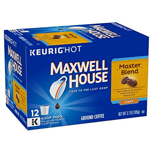 Maxwell House Master Blend Coffee, Light Roast, K-Cup Pods, 12 count (Coffee Roasted Maxwell)