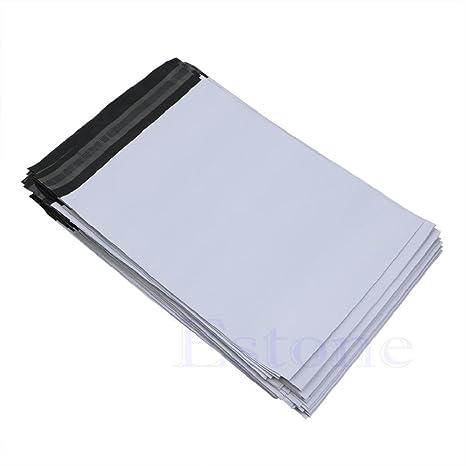 YISU - 100 Bolsas de plástico para envíos Postales, 20 x 34 ...