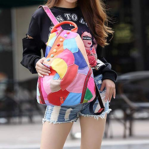 Femme Sac Multicolored Mode Couture à Sac Main CYBHL Dos à Yt1qO