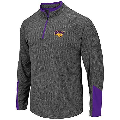 Colosseum Mens UNI Northern Iowa Panthers Tasmania Quarter Zip Wind Shirt - L