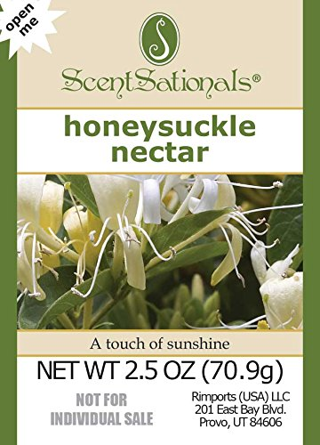ScentSationals 4-Pack Honeysuckle Nectar Fragrance Scented Wax Cubes Melts - for Candle Warmer or Electric Tart Warmer