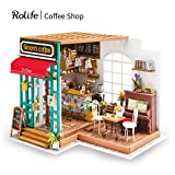 Rolife Wooden Mini House Crafts-DIY Model Kits with Furniture and Accessories- Handmade Construction Kit-Wooden Playset-Best Birthday for Boys and Girls