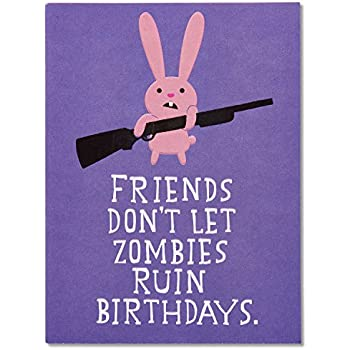 American Greetings Funny Zombie Birthday Card With Embossing