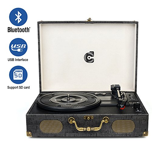 CMC Portable Bluetooth Turntable Speakers product image
