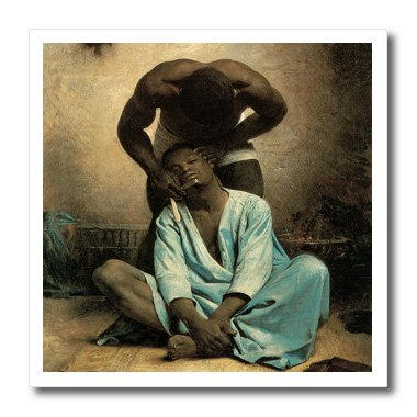 3dRose ht_127394_3 The Barber of Suez by Leon Bonnat Iron on Heat Transfer, 10 by 10-Inch, for White Material