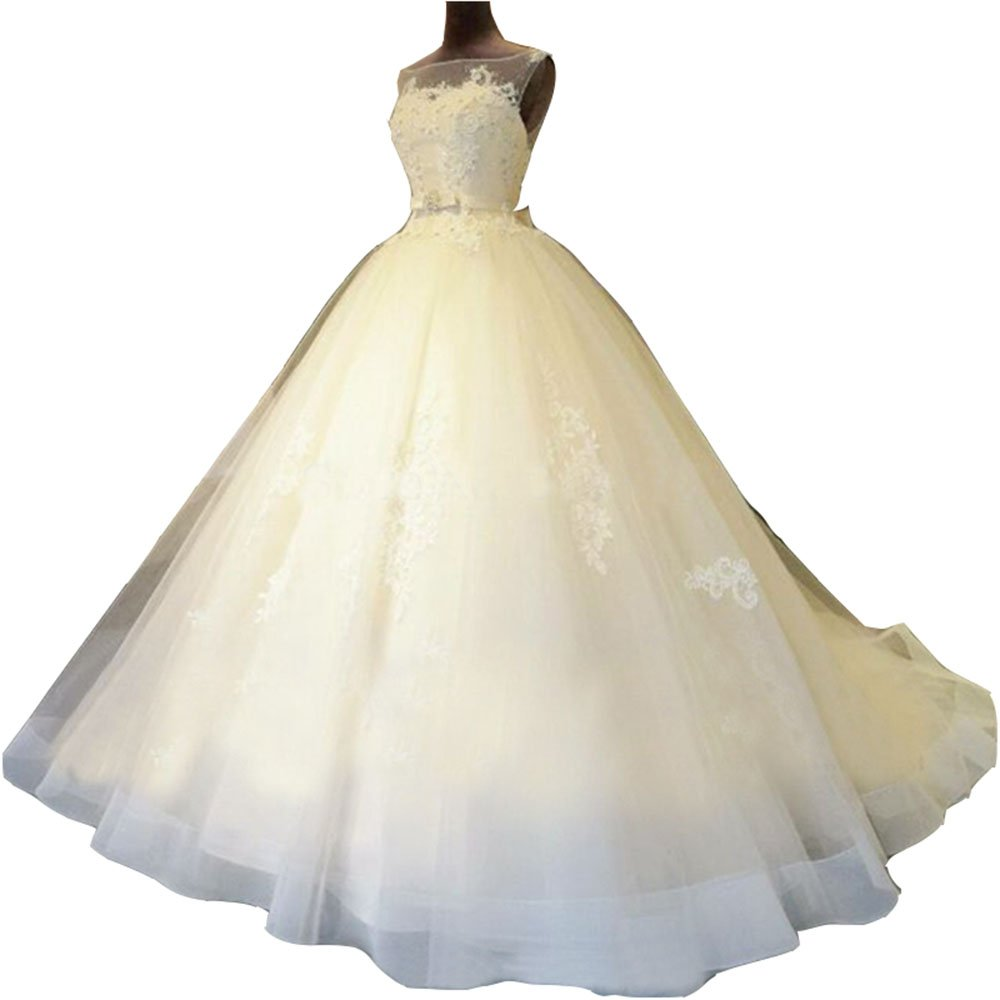 Zorayi Damen Glitzer Tr/ägerlos T/üll Spitze Prinzessin Abschlussballkleider Ballkleid Hochzeitskleider