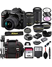 $1399 » Nikon D7500 DSLR Camera with 18-55mm VR and 70-300mm Lenses + 128GB Card, Tripod, Flash, ALS Variety Lens Cloth, and More