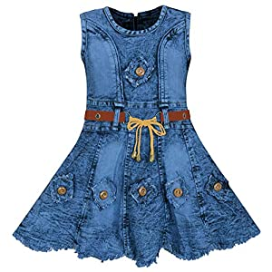 BENKILS Girls' Midi Wood Buttons...