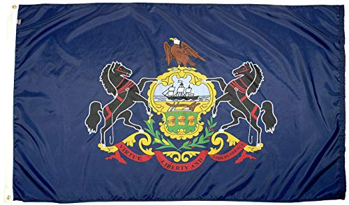 FlagSource Pennsylvania Nylon State Flag, Made in The USA, 3x5'