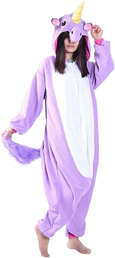 QUMAO Pijama Animal Unicornio Entero para Adultos Pijama Mono ...
