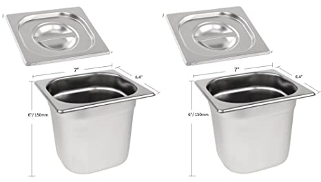 Lids For Gn 1/6 Pan 8 Pcs Stainless Steel | Fruugo UK