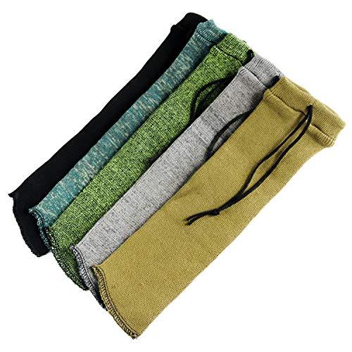 "GUGULUZA Silicone Treated Knit Pistols Gun Sock 14"",Handgun Care Sleeve Cover. (Pack of 5)"
