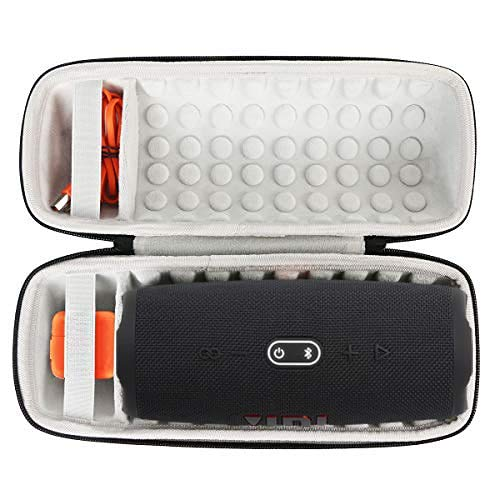 Khanka Hard Travel Case Replacement for JBL Charge 4 / JBL Charge 5 Portable Waterproof Wireless Bluetooth Speaker (Black)