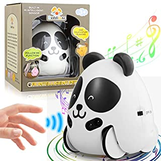 LAKIBOLE Baby Toy Companion Pet Car, Intelligent Follow Sensor Toys Car for Toddler Kids Ages 1 2 3 4 5 Years Old - Panda