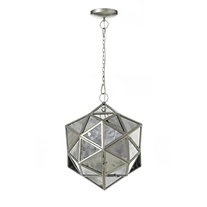 Lámpara de techo árabe plateada de cristal de salón Arabia ...