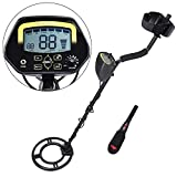 AW LCD Metal Detector Kit with Pinpointer Pin pointer Sensitive Search Treasure Hunter Gold Digger