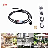 Outdoor Misting Cooling System Fan Cooler Patio Garden Water Mister Mist Nozzles 3M