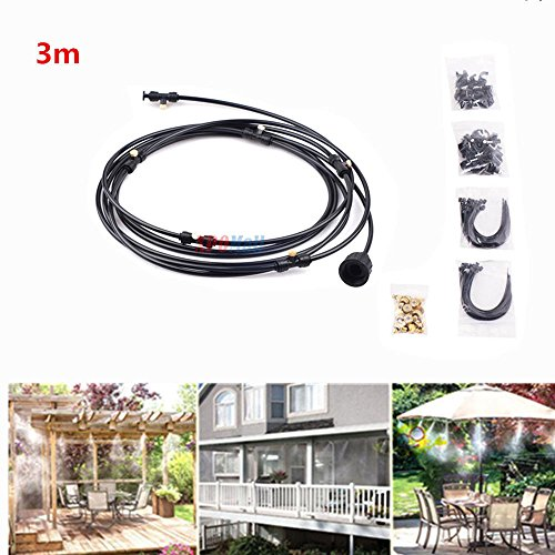 Outdoor Misting Cooling System Fan Cooler Patio Garden Water Mister Mist Nozzles 3M by TimmyHouse