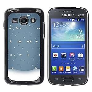 Paccase / SLIM PC / Aliminium Casa Carcasa Funda Case Cover para - Winter White Blue Nostalgic - Samsung Galaxy Ace 3 GT-S7270 GT-S7275 GT-S7272