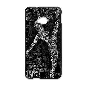 Cartoon Dancer Black Phone Case for HTC M7