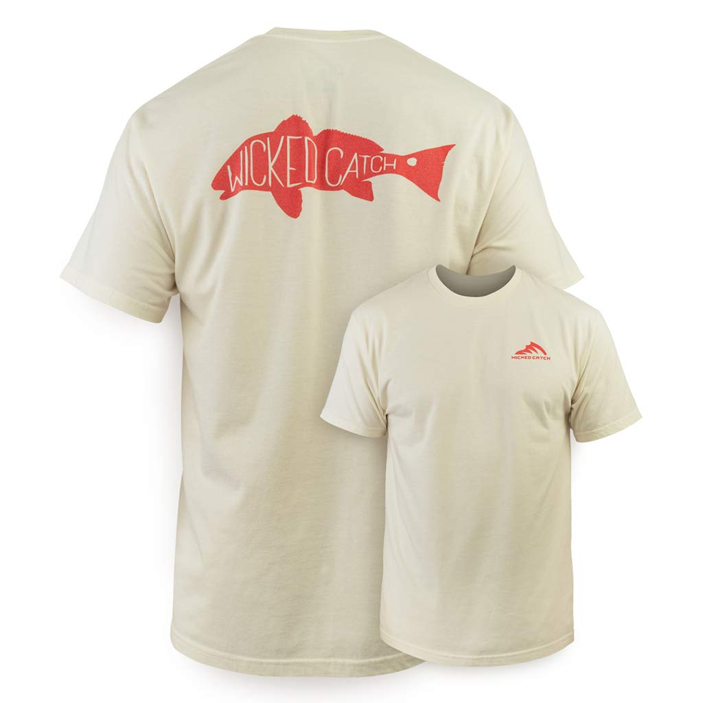 4d76e166beb0 Amazon.com: Wicked Catch Slot Redfish Mens Short Sleeve Fishing T-Shirt:  Clothing