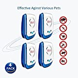 I-pure items Ultrasonic Pest Repellent - Electronic Pest Control Plug In-Pest Repeller for Insect - Mice, Roaches, Bugs, fleas, Mosquitoes, Spiders (4 PACKS)