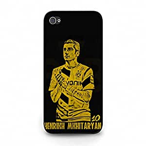 Official BVB09 FC Player Henrikh Mkhitaryan Cell Phone Cover Case for Iphone 5c Unique Comic Design BVB09 Borussia Dortmund Protective Cover Case Bundesliga Club Series