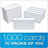 "Oxford 30 (1000 PK) Blank Index Cards, 3"" x"