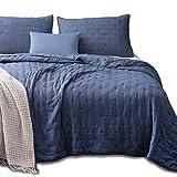 KASENTEX Quilt-Coverlet-Bedspread-Blanket-Set + Two Shams, Ultra Soft, Machine Washable, Lightweight, All Season, Nostalgic Design - Hypoallergenic - Solid Color