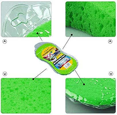 Car Wash Sponges,Large Cleaning Sponges Pad,5Pcs Size 23x11x4.5CM,Mix Colors Cleaning Washing Sponges with Vacuum Compressed Packing