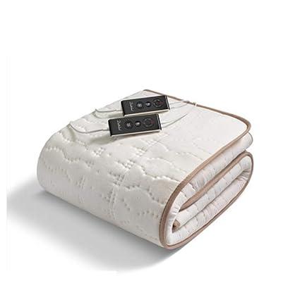 FUGUOGUO Manta eléctrica King Size, algodón de Control Dual Lavable Manta térmica con calefacción eléctrica