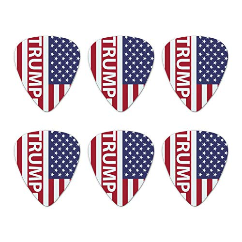 President Trump American Flag Novelty Guitar Picks Medium Gauge - Set of 6