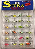 ice jigs panfish - Sitka 24 Pc Ast Glow Ice Jig Kit