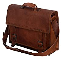 Passion leather 18 inch Handmade Leather Briefcase/leather Messenger Bag/laptop Bag by Passion Leather