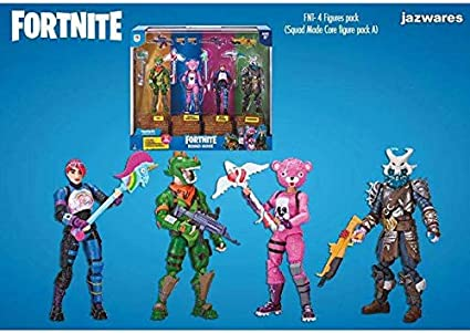 Toy partner,s.a. Pack 4 Figuas Fortnite Squad Mode Core, Serie 2 ...