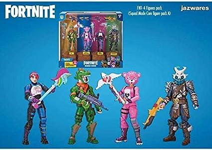 Toy partner,s.a. Pack 4 Figuas Fortnite Squad Mode Core, Serie 2, 10 cm: Amazon.es: Juguetes y juegos