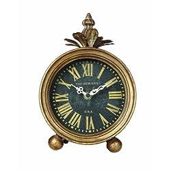 Creative Co-op Metal Table Clock, Gold