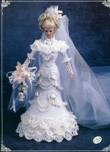 1996 Bride Doll Gown (Annie's Calendar Bed doll Society, 7105)