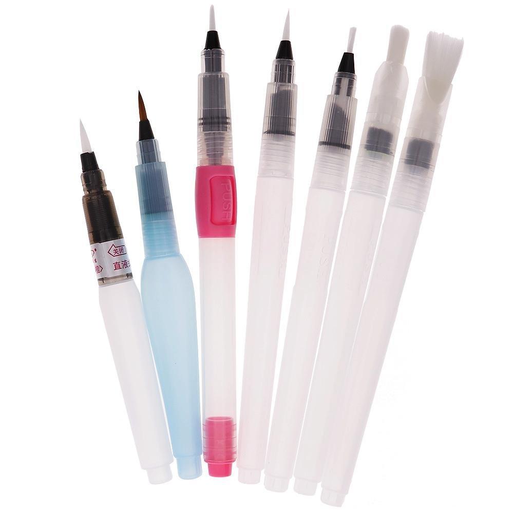 Kinbelle 7PCS Refillable Pilot Water Brush Ink Pen for Paint Watercolor 7PCS//Set