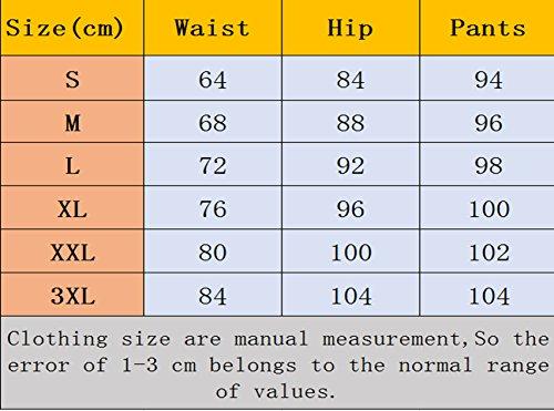 Yupolb Pants Della Donna Con Vita Alta Bottoni Skinny Lungo Caramella Pantaloni Colori Leggings Rosso Elasticizzati Sottile Matita Fashion xAxwYrdt