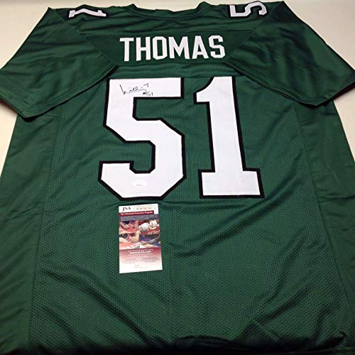 - Philadelphia Eagles Willie Thomas Signed Throwback Custom Jersey - JSA Certified - Autographed NFL Jerseys