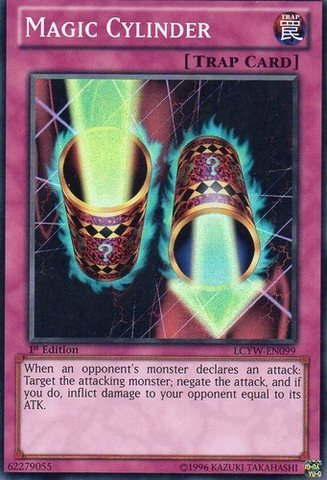 Yu-Gi-Oh! - Magic Cylinder (LCYW-EN099) - Legendary Collection 3: Yugi's World - 1st Edition - Super Rare