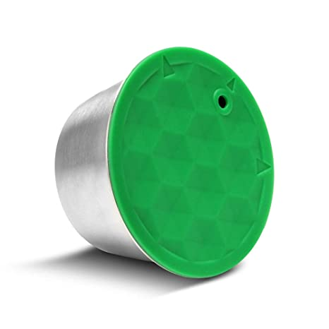 Cápsula de café recargable reutilizable, café recargable de metal de acero inoxidable Orsit, cápsula adecuada para la máquina Dolce Gusto con 1 ...